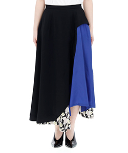 ACETATE TWILL SKIRT