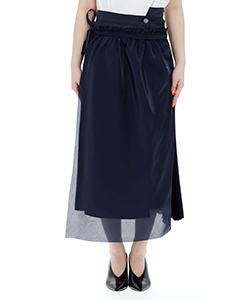 SKIRT WITH WRAP SKIRT