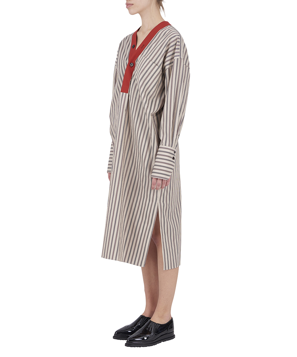 REGIMENTAL STRIPE SPRIT SHIRT DRESS