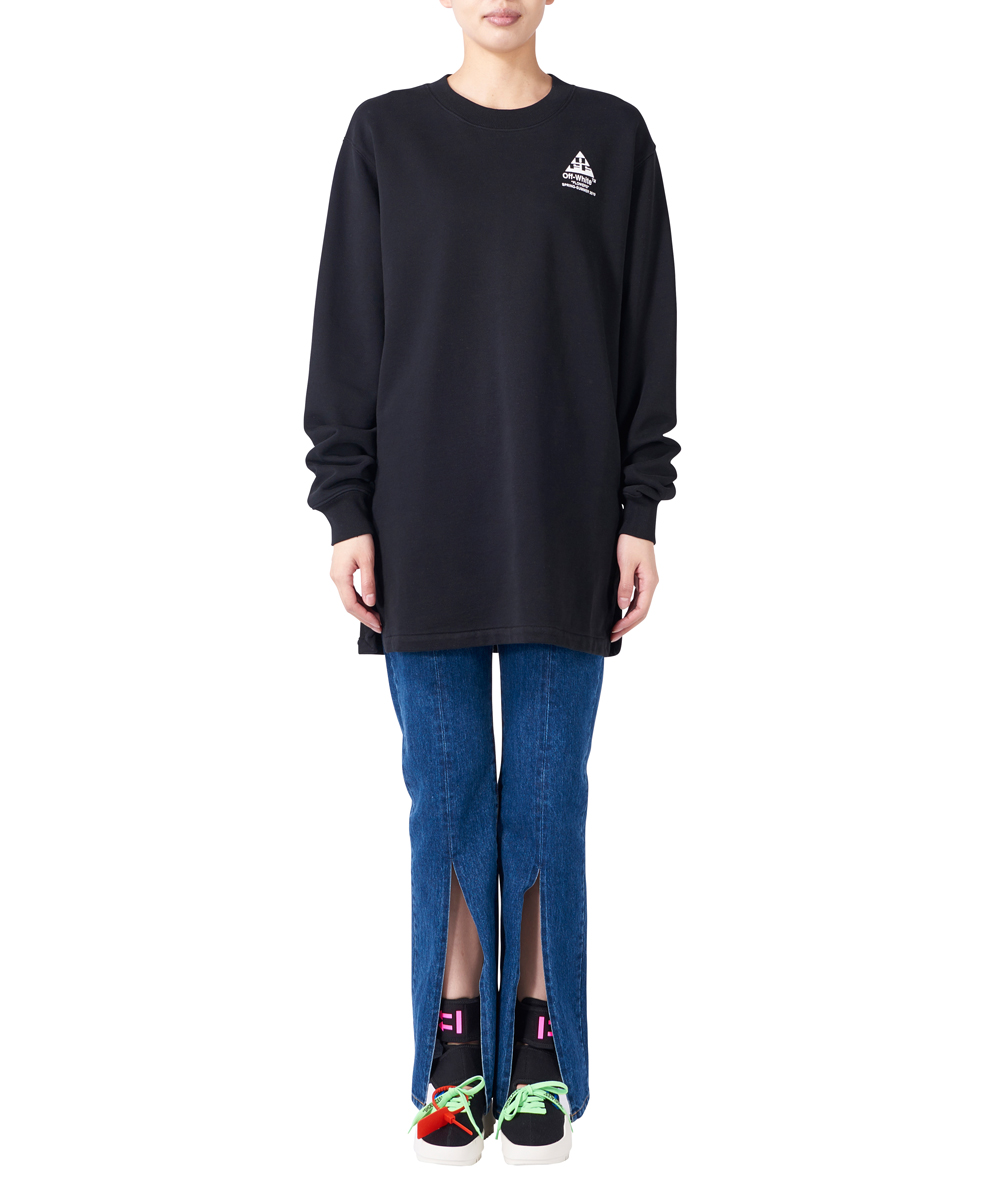 COTTON LONG DRESS CREWNECK