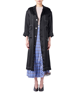 ACETATE SHOP COAT DRESS