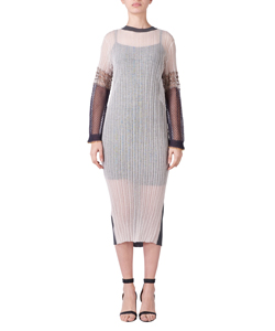 LAME MESH KNIT DRESS