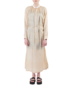TUSSAH SILK LONG SHIRT DRESS