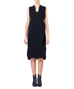 BOX SILHOUETTE V-NECK DRESS