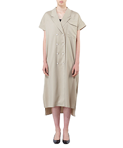 BACK PLEAT SHIRTS DRESS
