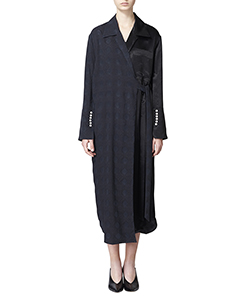 GEOMETRY JQ WRAP SHIRT DRESS
