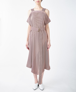 SALOPETTE DRESS WITH BELT