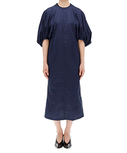 PUFF SLEEVE COTTON DRESS