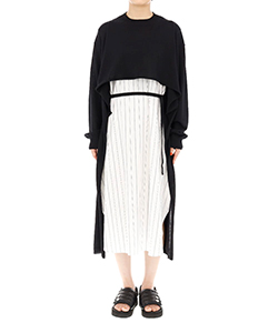 WOOL DRAPE KNIT DRESS