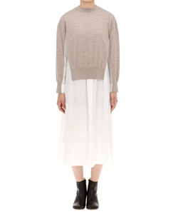 KNIT LAYERED FLARE COMBI DRS