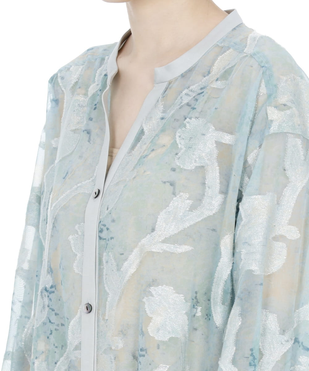 IRIS CUT JACQUARD LONG SHIRT
