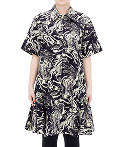 MARBLE PRINT COTTON DRESS