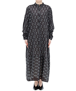 WASHED PATTERN INKJET BIG SHIRT DRESS