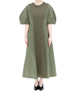 LIEVE TUCK SLEEVES DRESS KH
