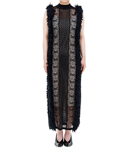 MIXED FRINGE MAXI DRESS