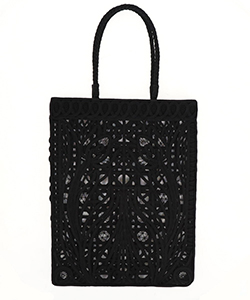 CORDING EMBROIDERY TOTE BAG
