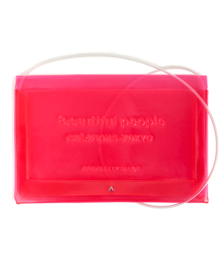 CLEAR EMBOSS NAME SHOULDER BAG