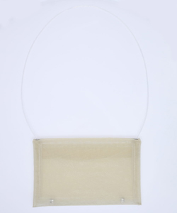 LOGO EMBOSS TULLE SHOUDER BAG
