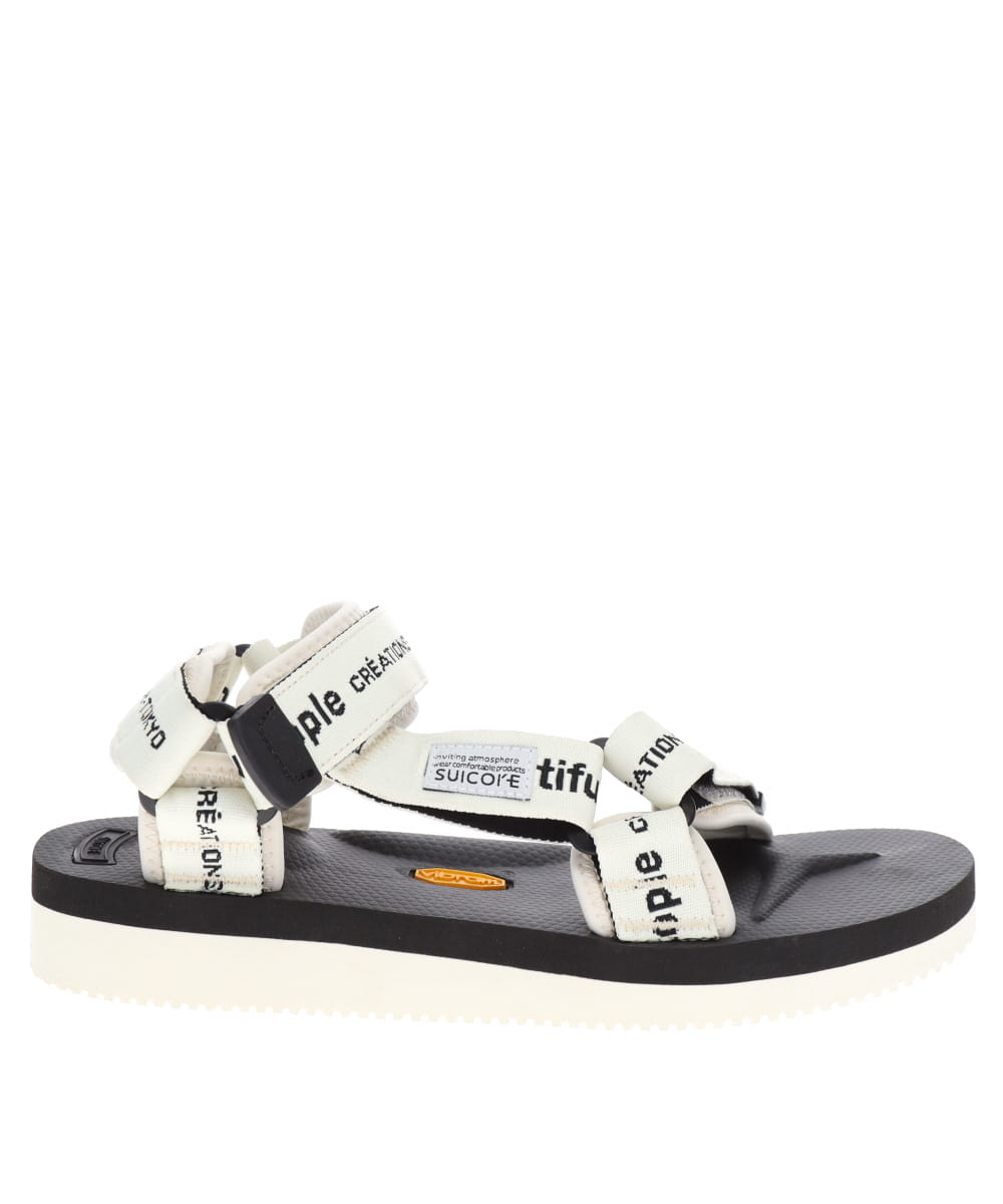 BP×SUICOKE LOGO BELT SANDALS