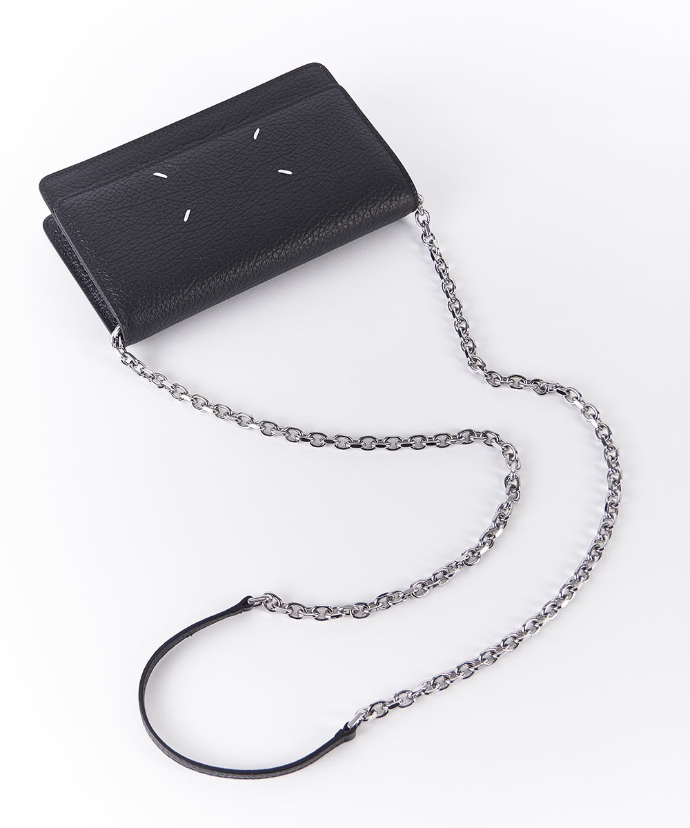 GRAINY EMBOSSED LEATHER;SMALL CCR BAG CHAIN