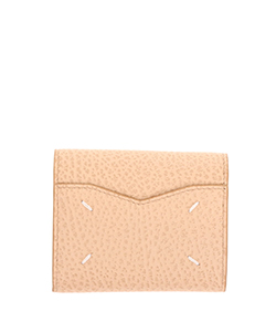 GRAINY EMBOSSED LEATHER;ZIP COMPACT TRI FOLD