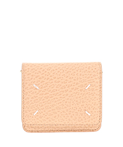 GRAINY EMBOSSED LEATHER;SMALL CHAIN WALLET