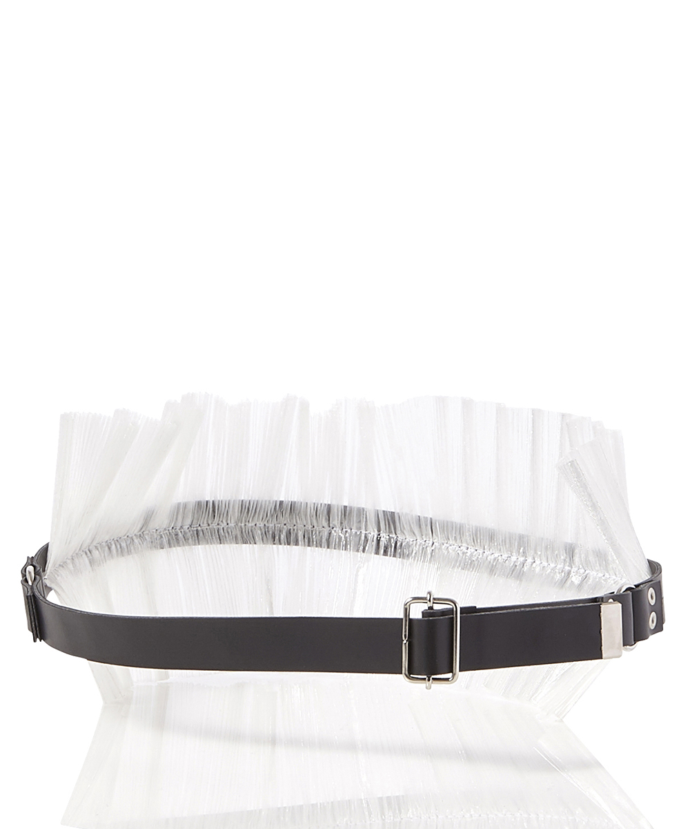 TRANSPARENT PLEATS BELT