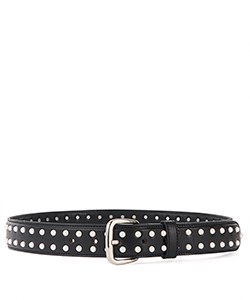 DOUBLE PEARL LEATHER BELT