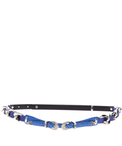 DOUBLE BUCKLE CHAIN BELT