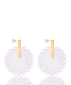 LACE PAPER PIERCED EARRINGS
