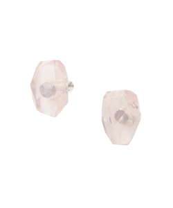 EARRING ROSE QUARTZ