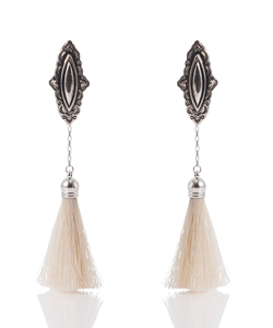 METAL FRINGE EARRINGS