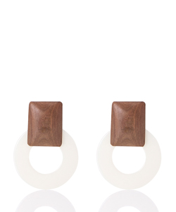 OPAQUE CIRCLE EARRING