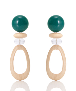 WOOD GOUTTE EARRING