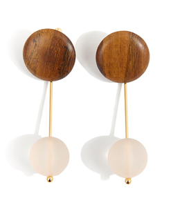 WOOD BAR EARRING