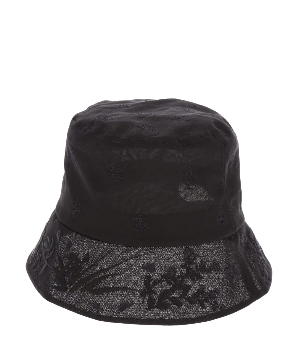 FLORAL EMBROIDERED BUCKET HAT