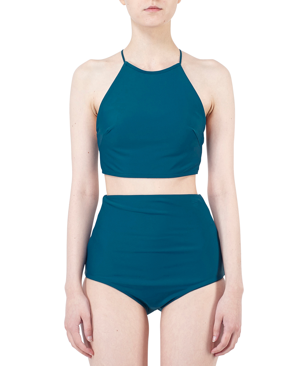 VITA HALTER CROPPED TOP