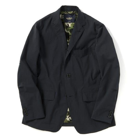Seersucker packable jacket
