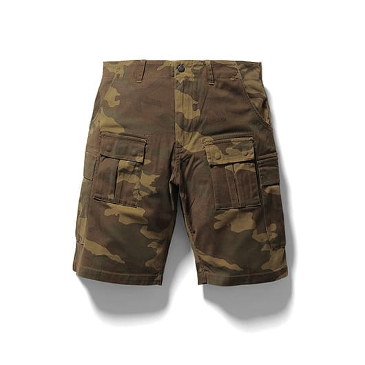 Stretch camo cargo short pants