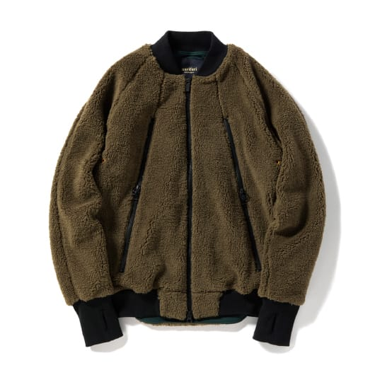Boa fleece bomber jacket