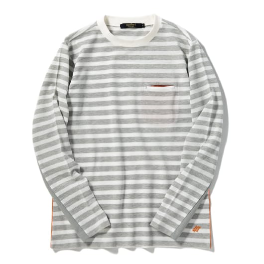 Dry pique border long sleeve T-shirt