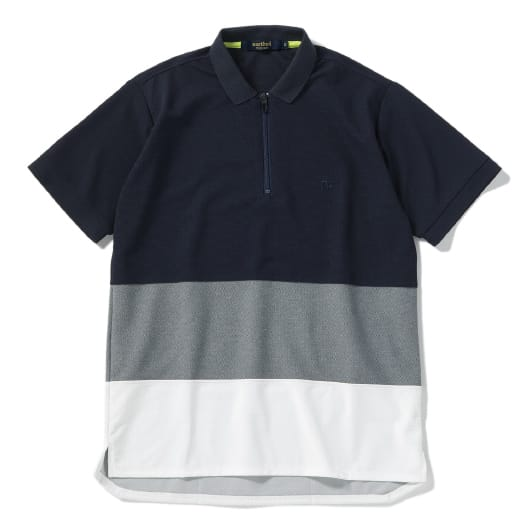 Mesh panel cycle polo shirt