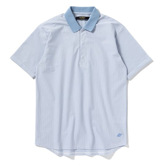High gauge pique stripe polo shirt