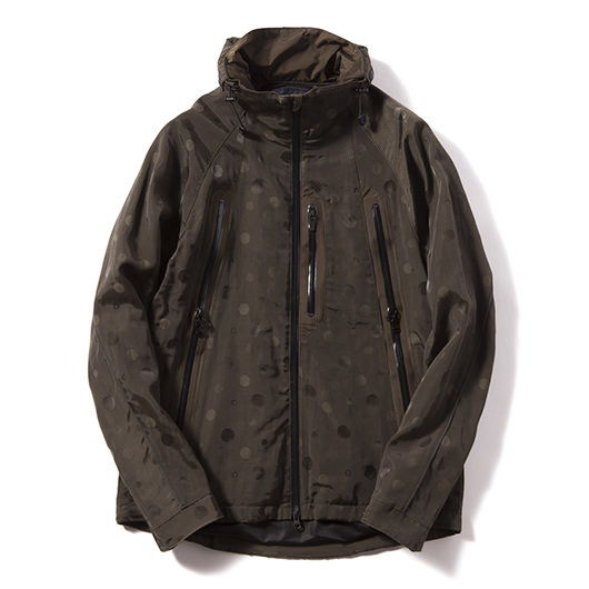 Jacquard dot 2 layer mountain parka