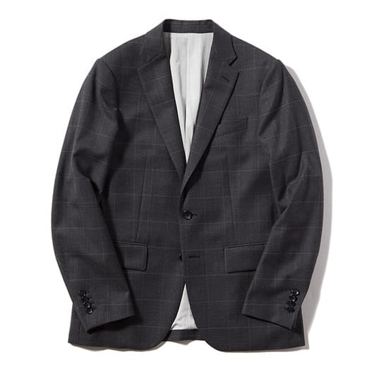 Windowpane tailored jacket