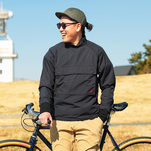 Stand collar cycle anorak