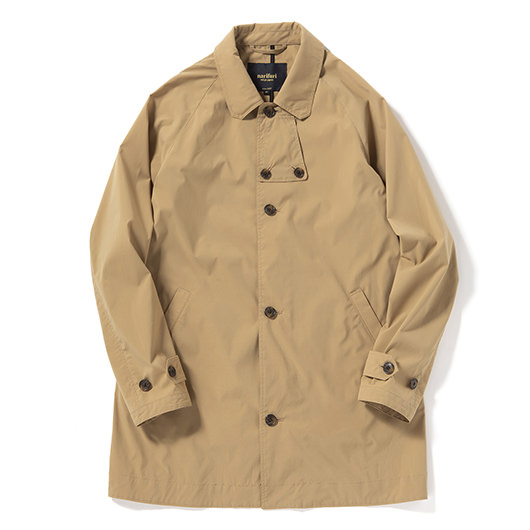 Water repellent pocketable bal collar coat