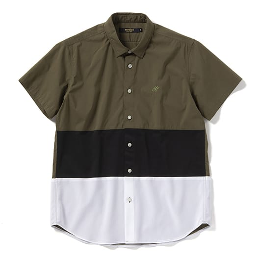 Mesh panel cycle short sleeve shirt
