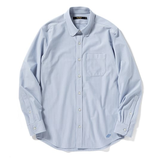High-gauge pique stripe commute shirt