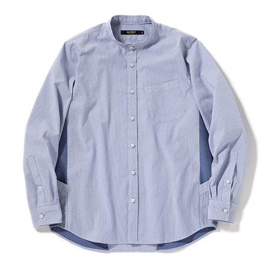 Stand-up collar ventilation shirt
